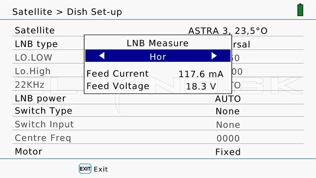 46 LNB Measure Horizontal